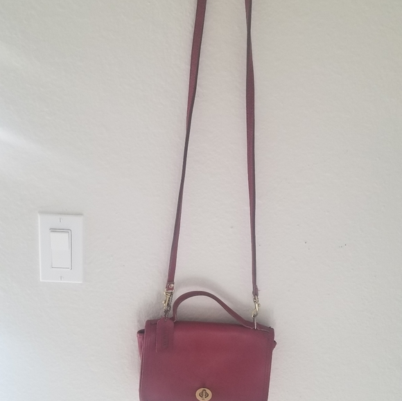 Vintage red coach crossbody